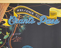 City of Grants Pass Chalkboard Wall Map