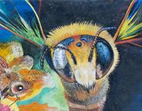 Lanata Megabee Street Painting