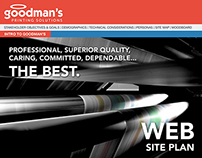 Goodman's Website Plan