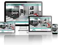 Webdesign for flat design studio - proposal