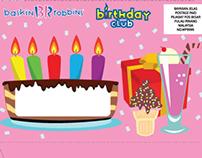 Happy Birthday from Baskin Robbins Envelope