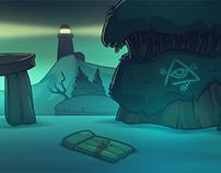 Halloween's Game Background: Lake