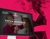 Landing Page for make-up school FRESH ART
