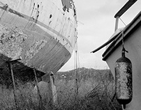 groundet ship (shot with Hasselblad)