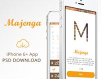 Majenga UI/UX Flat App Design