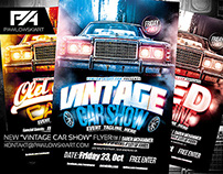 Vintage Car Show Event Flyer Template (download .psd)