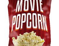 Movie Popcorn Package Design