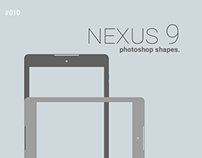 Nexus 9 photoshop shapes