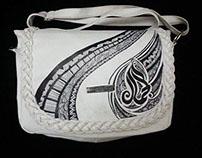 Arabic calligraphy & doodle on my bag