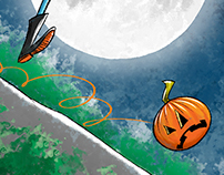 Rolling pumpkin