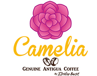 Logo Cafè Camelia - Genuine Antigua Coffee