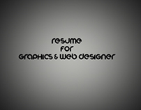 Resume for Graphics & Web Designer
