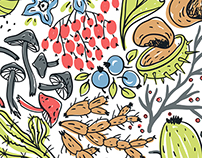 Organic&fresh series-vector patterns and illustrations