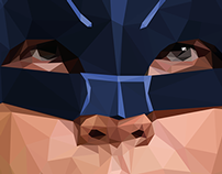 Adam West -Batman low poly