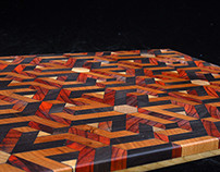 Laser Cut Geometric End Grain Cutting Boards