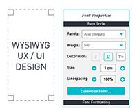 Readz WYSIWYG Responsive Web Editor Redesign