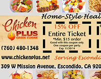 Chicken Plus Ad for Newspaper Publication
