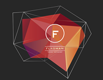 Flagman, corporate identity + weird polygonal thing