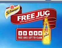 Schweepes Free Summer Jug campaign