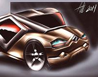 Renault futuristic concept sketch