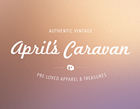April's Caravan Branding and Website Concept