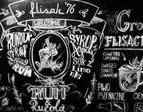 Blackboard typography