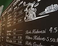 Cafe Chalk Board Menu design