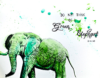 Do Not Think To a Green Elephant