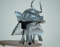 360 camera / samurai helmet (2014)