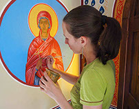 Mural paintings in orthodox churches