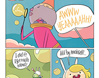 Hand lettering Adventure Time with Fionna and Cake