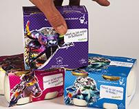 Habillage de packaging de yaourt