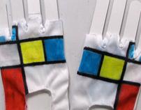 Mondrian fingerless gloves