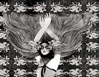 Glam illutration - Umberto Giannini Hair Cosmetics, UK