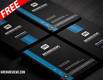Minimalist Vertical Business Card Template (FREE)