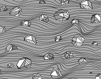 Stones & waves pattern