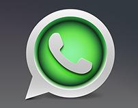 Whatsapp icon design concept