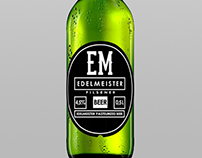 Edelmeister Beer Etiquette - Bottle Black label