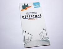 Theatre Repetoire Leaflet - Scena Letnia 2013
