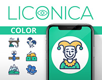 Colorful icons collection