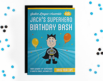 Superhero Birthday Invite