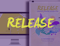 Release 2014 Graphic Design Graduate Exhibition Concept