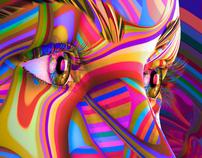 Color Waves Woman