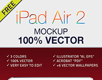 Mockup Ipad Air 2 Vector
