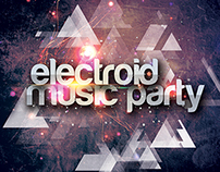 Electroid Party Flyer Template ( Freebie )