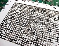 Future Self-Portrait, papercutting