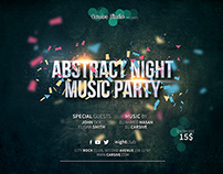 Horizontal party flyer template ( Freebie )
