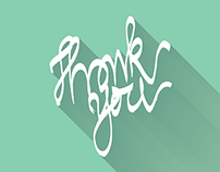 Thank you - Hand Lettering