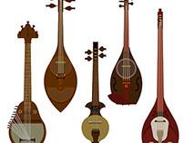 instruments exhibit by Mohammadreza Shajarian