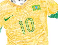 Oscar, Brazil - Aces of America Book - Illustration